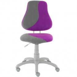 Rosnące krzesełko Alba Fuxo S Line Suedine fioletowo-szare264