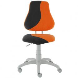 Rostoucí židle Fuxo S Line Suedine oranžovo-černá 253