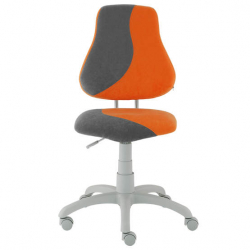Rostoucí židle Fuxo S Line Suedine oranžovo-šedá 280