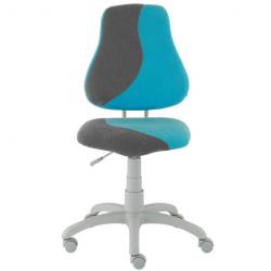 Rostoucí židle Fuxo S Line Suedine světle modro-šedá 254