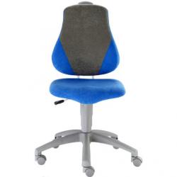 Rosnące krzesełko Alba Fuxo Suedine niebiesko-szare 003