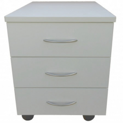Kontener na kółkach Jitro niski z 3 szufladami biały