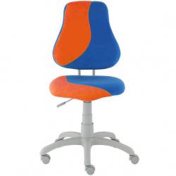 Rosnące krzesełko Alba Fuxo S Line Suedine pomarańczowo-niebieskie 608