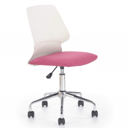 Dětská otočná židle Halmar SKATE růžová-bílá