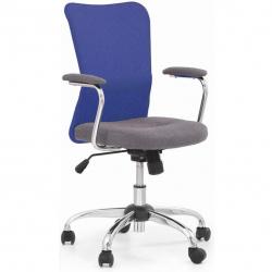Dětská otočná židle ANDY modrá-šedá