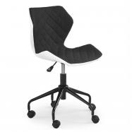 Detská otočná stolička Halmar MATRIX čierna-biela