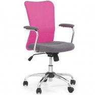 Detská otočná stolička ANDY růžovo-šedá