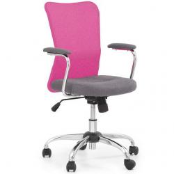 Dětská otočná židle ANDY růžovo-šedá