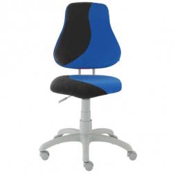 Rosnące krzesełko Alba Fuxo S Line Suedine czarno-niebieskie 821
