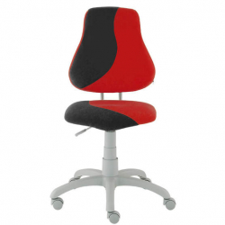 Rosnące krzesełko Alba Fuxo S Line Suedine czarno-czerwone 893