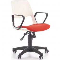 Študentská otočná stolička HalmarJUMBO červená-biela