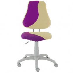 Rosnące krzesełko Alba Fuxo S Line Suedine fioletowo-beżowe 800