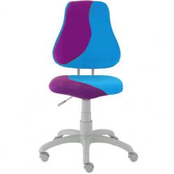 Rosnące krzesełko Alba Fuxo S Line Suedine fioletowo-niebieskie 778