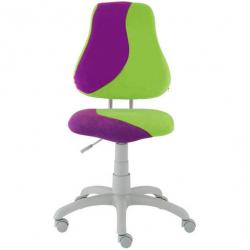 Rosnące krzesełko Alba Fuxo S Line Suedine purpurowo-zielone 508