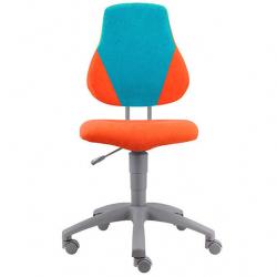 Rosnące krzesełko Alba Fuxo V-line pomarańczowo-niebieskie