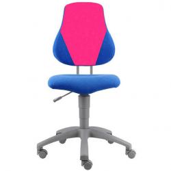 Rosnące krzesełko Alba Fuxo V-line niebiesko-różowe 1283