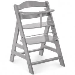 Rosnące krzesełko Alpha +  łącznie z pasami bezpieczeństwa grey
