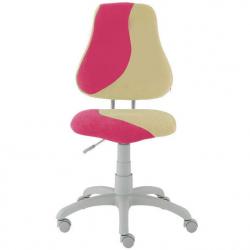 Rosnące krzesełko Alba Fuxo S Line Suedine różowo-beżowe 801