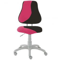 Rosnące krzesełko Alba Fuxo S Line Suedine różowo-czarne 798