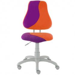 Rosnące krzesełko Alba Fuxo S Line Suedine fioletowo-pomarańczowe 340