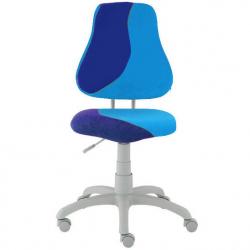 Rostoucí židle Fuxo S Line Suedine světle modro-tmavě modrá 299