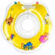 TEDDIES Kółko do pływania dla niemowląt Flipper żółte