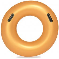 Kruh nafukovacie 91cm zlatý s úchytmi 10rokov + v krabičke