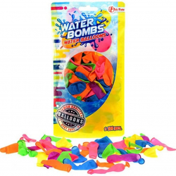 Vodné bomby plast 100ks v sáčku 12x21cm