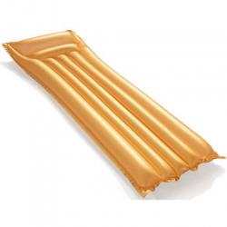 Lehátko nafukovací 183x69cm zlaté 2komory v krabičce
