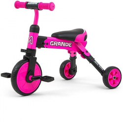 Detská trojkolka 2v1 Milly Mally Grande pink