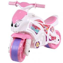 Bujak motocyklowy różowo-biały