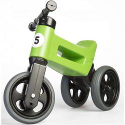 Odrážadlo zelené FUNNY WHEELS 2v1 výška sedadla nastaviteľná 28 / 31cm nosnosť 50kg 18m + v krabici