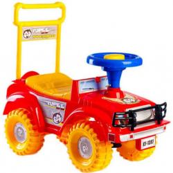 TEDDIES Jeździk Jeep Yupee czerwony