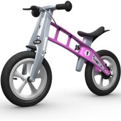 First Bike STREET Pink s brzdou