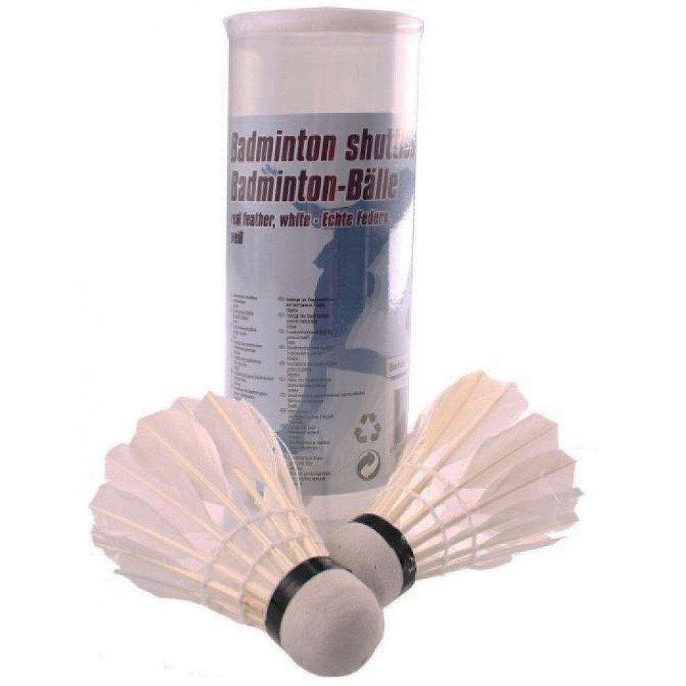 Loptičky / Košíčky na badminton perové 4ks v tube 6x18x6cm