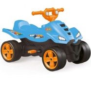 Detská šliapacia štvorkolka modrá Hot Wheels
