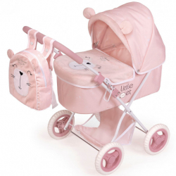 DeCuevas 85039 Skladací kočík pre bábiky s batôžkom Little Pet 2020 - 60 cm