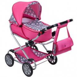Detský kočík pre bábiky 2v1 New Baby Ruženka
