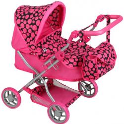Hlboký kočík pre bábiky Playtech Viola ružový