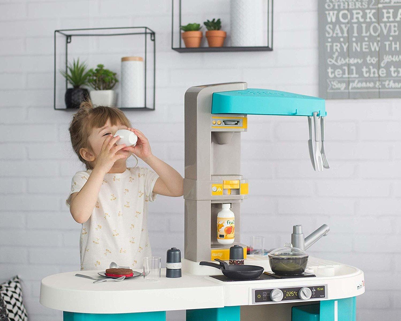 Studio kuchenne Tefal XL Bubble niebiesko-żółte elektroniczne