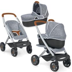 Smoby Maxi-Cosi Quinny - Filcowy wózek spacerówka i gondola dla lalek 3w1