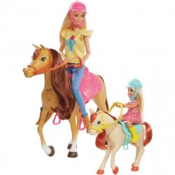 Barbie herný set s koníkmi