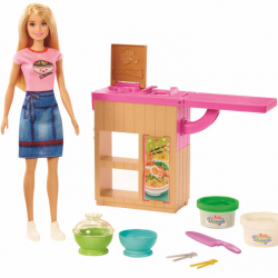 Barbie bábika a ázijská reštaurácia