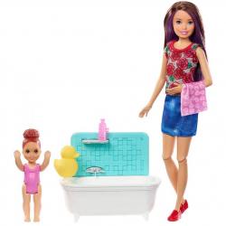 Barbie Opatrovateľka herný set čas na kúpanie