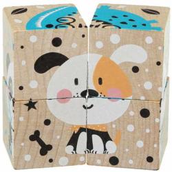 Cubik 15429 Veselá zvieratká - 4 skladacie obrázkové kocky