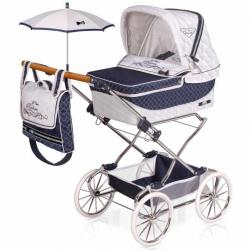 DeCuevas 82037 Skladací kočík pre bábiky REBORN so slnečníkom a doplnky TOP Collection 2020 - 90 cm