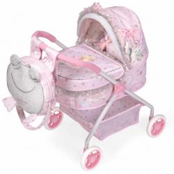 DeCuevas 86034 Môj prvý kočík pre bábiky s batôžkom a doplnky Magic Maria 2020 - 56 cm