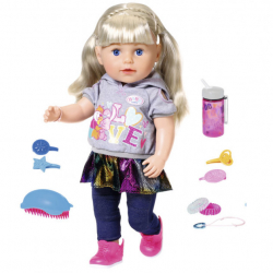 Baby Born - Lalka interaktywna siostrzyczka blond 43 cm