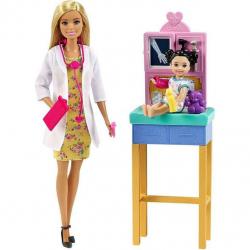 Barbie Povolání herní set dětská doktorka blondýna