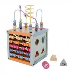 Dřevěné hrací centrum - kostka